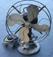 """Antique Emerson Type 27646  Electric Fan 13"""" Art Deco 4 Blade Brass 60 Cycles"""