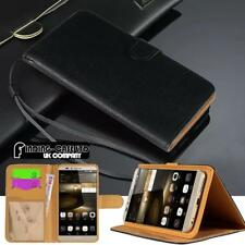 Black Flip Cover Stand Wallet Leather Case For Various Huawei Ascend MobilePhone