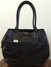 Petunia Pickle Bottom Handbags Black Leather Transatlantic Tote Purse Obsidian