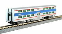 KATO 1560970 N SCALE Chicago Metra 7836 Pullman Bi-Level 4-Window Coach 156-0970