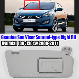 852022L520TX Sun Visor Sunroof-type RH Gray HYUNDAI i30 i30CW 2008-2010