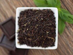 Chocolate Mint Black Organic Tea - loose leaf or in tea bags - delicious dessert