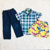 Gap Kids Hanna Andersson Shirt Pants Swim Board Shorts Boys 6/7 Lot of 3 Pieces