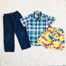 Gap Kids Hanna Andersson Shirt Pants Swim Board Shorts Boys 6/7 Summer Lot