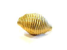Bijou alliage doré rare cache bouton vintage coquillage idéal pour cadeau