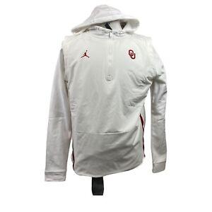 Oklahoma Sooners Jordan Jumpman White Size Large Hoodie Jacket Therma AQ8941-100