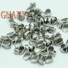 GNAYY accessories 300pcs Lot stainess steel Pinch Bail Clip jewelry connector