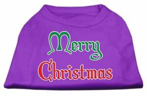 Merry Christmas Screen Print Dog Cat Pet Puppy Christmas Shirt