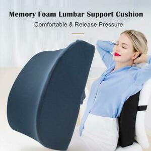 Orthopedic Memory Foam Back Lumbar Support Cushion Chair Cars Pain Relief G9M0