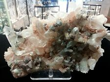 Himalayan Quartz Cluster, Colored With Chlorite (Green) and Iron (Pink, Orange,