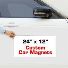 24 X 12 Custom Vehicle Magnets Magnetic Auto Truck Van Car Signs