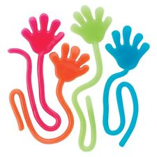 72 Sticky Glitter Hands Xmas Stocking Stuffers Party Birthday Toy Prize Assorted