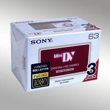 3 SONY HD HDV DVC MINI DV Handycam Tape 1080p 63min Camcorder Tapes