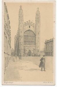 POSTCARD CAMBRIDGE UNIVERSITY Kings Chapel