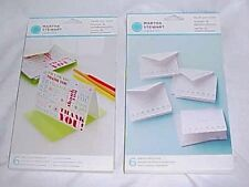 Martha Stewart Thank You Notes & Envelopes 2 Packages of 6 Each New