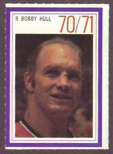 1970-71 Esso Hockey Stamp Bobby Hull Black Hawks