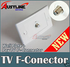 1Port Keystone Wall Plate with Pay TV F-Connector  F-type Jack