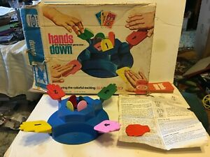 1964 Hands Down Game by Ideal Appears Complete in Great Condition