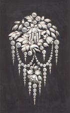 Projet de bijou. Aquarelle et gouache. Diamants. Vers 1900. #3