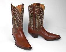 50's Tony Lama Cowboy Boots - Women's Sz 7.5B Excellent Vtg Brown Shorty Pee Wee