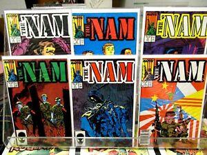 The NAM #5 #6 #7 #8 #9 #10 Marvel Comics FULL RUN Vietnam War HUMPIN THE BOONIES