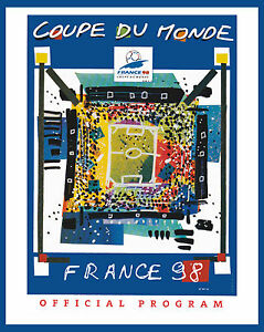 1998 France World Cup Poster of Tournament Program - 8x10 Color Photo