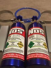 Pair Of Fake Nos Bottles Nitrous Oxide With Trays And Clamps GSXR R1 CBR ZXR R6