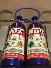 Pair Of Fake Nos Bottles Nitrous Oxide With Trays And Clamps GSXR R1 CBR....