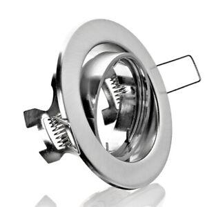 Einbaustrahler rund Metall schwenkbar gebürstet LC Light 4405-5