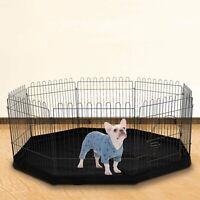 8 Sided Pet Playpen Cage & Mat Indoor/Outdoor Garden Run Dog/Puppy/Rabbit