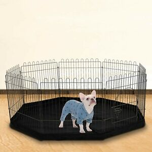 8 Sided Pet Playpen Cage & Mat Indoor/Outdoor Garden Run Dog/Puppy/Rabbit
