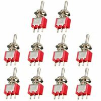 10X 3 Pin Miniature Mini SPDT On-Off-On Toggle Switch Car Truck Dash Dashboard