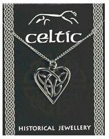 Celtic Triquetra Knot Love Heart Pendant Pewter Souvenir Gift Necklace Trinity