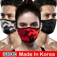 DRSKIN 3pack Washable Cool Face Mask UPF50+ UV Protection Mouth Cover