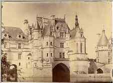 France, Château de Chenonceau, Aile Thomas Bohier  Vintage albumen print. Déchir