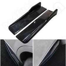 2 x Universal Black Race Car Side Rocker Skirt Wings Splitter Scratch Protector