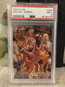 1994-95 Flair Michael Jordan PSA 9. Chicago Bulls Jersey 45