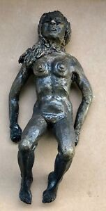"""Solid Bronze nude Woman sculpture after Sir Jacob Epstein 10"""" Lady Female"""