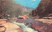 Chrome Postcard Arizona I002 Slide Rock Oak Creek Canyon Sedona Cancel 1985