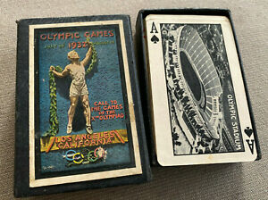Playing Cards Deck Card Olympics 1932 Los Angeles Xth Olympiad RARE Movie Star