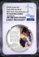 2019 Gone With The Wind 80th Anniversary Proof $1 1oz Silver COIN NGC PF 70 ER