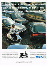 PUBLICITE ADVERTISING 064 1991  MBK   scooter  HOT CHAMP