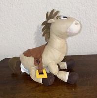 "Disney Pixar Toy Story Woody's Jessie Horse BULLSEYE  PLUSH 10"" suede rag doll"