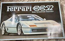 Ferrari  Berlinetta Boxer BB512 Fujimi 1/16 Rc103 Model kit Conts Sealed RARE