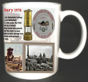 VALLEYFIELD COLLIERY COAL MINE MUG LIMITED EDITION FIFE SCOTLAND MINERS GIFT