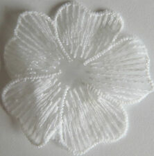 5 Cute Lace white Floral Flower Applique Patch sewing Craft Trim Dress Motif