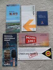 Lot of 6 International Airport Brochures =