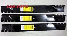 "set of 3 Snapper 61"" mower mulching blades 7073971YP 79222 79371 Hustler 794859"