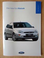 FORD FOCUS RANGE 1998 UK Mkt prestige sales brochure - CL Zetec LX Ghia