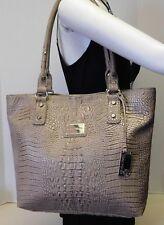 Marc Fisher Croc Embossed Shoulder Bag Tote Handbag